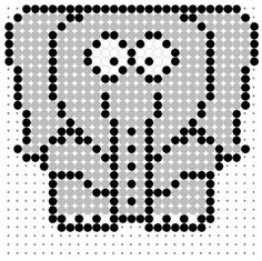 Cartoon Elephant Perler Bead Pattern