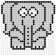 Cartoon Elephant Perler Bead Pattern
