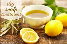 DIY Scalp and Hair Treatment!       Mix : 4tbsp. Soften Coconut oil,  2tbsp. Lemon juice,  1tbsp. Grapefruit juice. Then,  place on hair starting on top and work down to the end,  place with a cottonball all over the scalp. Let it sit on for 20min.  Then, wash off and use shampoo and conditioner.  Your hair should feel Refreshed!