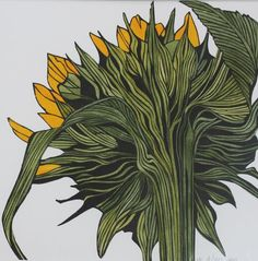 Sunflower by Irene MacKenzie Linocut - Stop into The Art Location at 1905 E Mission Blvd. in Fayetteville, AR. We sell MOO Carve lino blocks as well as Speedball cutter assortments, inks, and kits!