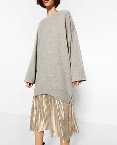 ZARA - WOMAN - SWEATSHIRT AND SKIRT DRESS