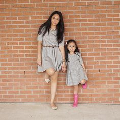 Matchy matchy again. Hunter Kids, Mini Me, Spring Summer 2016, Hunter Boots, Shirt Dress, T Shirt, Dresses, Fashion, Gowns