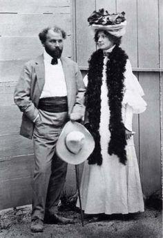 Gustav Klimt & his 'constant companion' Emilie Flöge