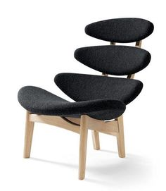 Evolution Design- Erik Jorgensen: Scan design. Chair available in black, tan, orange, light blue, grey