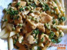 Pulykamell ragu sajttal-gombával-zöldborsóval Hungarian Food, Hungarian Recipes, Risotto, Potato Salad, Chicken Recipes, Potatoes, Ethnic Recipes, Ground Chicken Recipes, Hungarian Cuisine
