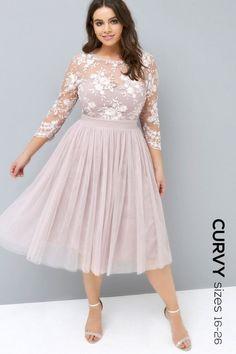 36e9b27753b Little Mistress Curvy Mink Midi Dress Looks Plus Size