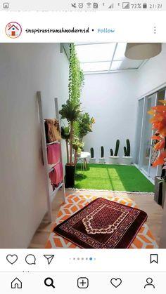 Home Room Design, Home Design Plans, Home Interior Design, Interior And Exterior, Minimalist House Design, Minimalist Home, Small Balcony Decor, Prayer Room, Interior Garden