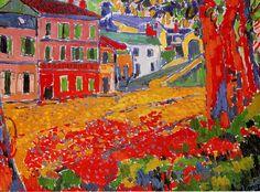 """Musée d'Orsay: Maurice de Vlaminck Restaurant """"La Machine"""" at Bougival Georges Braque, Henri Matisse, Andre Derain, Raoul Dufy, Fauvism Art, Maurice De Vlaminck, Infinite Art, Art Français, Post Impressionism"""