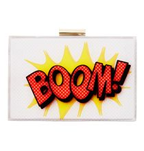 Olga Berg 'Boom' clutch Caulfield Cup, Boxing Day Sales, Sales Now, Effigy, Drink Sleeves, Pop Art, What To Wear, Boutique, Shopping