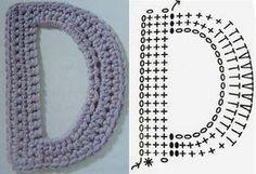 Alphabet au crochet - Fleurs et Applications au Crochet Crochet Basics, Crochet Stitches, Crochet Alphabet Letters, Monogram Initials, Crochet Accessories, Couture, Free Crochet, Knitting, Pattern
