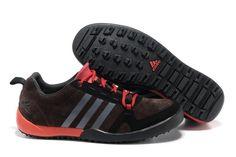Adidas Daroga Two Læder Mørkrød Sort Unisex
