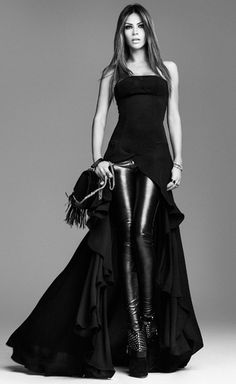 "this screams ""Michelle, why don't you dress like this!?""  Leather +rock glam"
