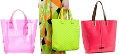 neon summer totes