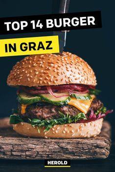 Unterwegs in Graz und Lust auf einen saftigen Burger? In diesen Lokalen wirst du garantiert nicht enttäuscht. #graz #burger Top 14, Beste Burger, Salmon Burgers, Hamburger, Ethnic Recipes, Food, Graz, Vacation, Tips