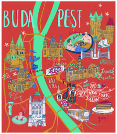 Budapest - Sia Tzavalas Illustration