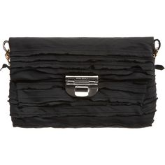 Nina Ricci Tiered Ruffle Evening Bag - Noir ❤ liked on Polyvore