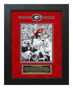 Herschel Walker Autographed 8x10 Georgia Bulldogs - Custom Framed Photo.  Will display nicely in any Fan Room, Office, Man Cave or DAWG House! #ManCaveDecor #GeorgiaBulldogs #SportsMemorabilia #Autographs #GiftsForHim #HerschelWalker