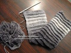 Riptide Scarf  Crochet Tutorial - Good scarf for men too! - Meladora's Creations