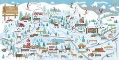 Winter Map for Jackson Hole Magazine by Nate Padavick