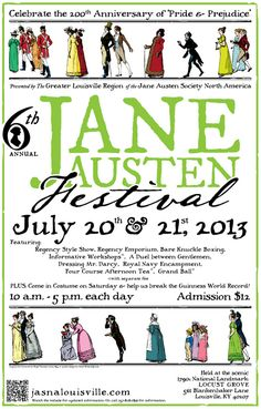 The Jane Austen Festival, Louisville, Kentucky - I so want to do this... fun girls weekend??  @Robin Manees @Barbara Culp  Maybe there is something similar closer by??