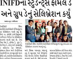 Days Celebrations by INIFD Gandhinagar Covered in Eagle News Gandhinagar and Divya Bhaskar News. #INIFDRocks