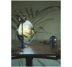 Liminal Spaces: A Conversation with Daniel Sprick : Painting Perceptions  - Still Life and Mirror - oil on board