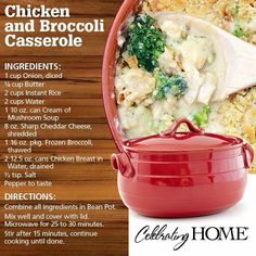 Chicken and Broccoli Casserole (using Bean Pot from Celebrating Home)