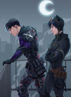 aka Jason Todd and Tim Drake Nightwing, Batgirl, Catwoman, Tim Drake, Drake Art, Dc Comics Art, Marvel Dc Comics, Red Hood Jason Todd, Univers Dc