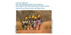 Poetry Wallpaper, Meaning Of Community, I Am An African, Photo Credit, Meant To Be, Teaching, Image, Education, Onderwijs