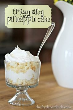 Thrifty Decor Chicks: Crazy Easy Pineapple Cake