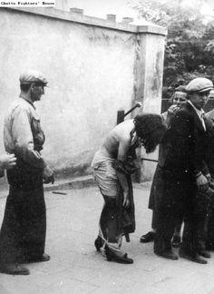Jewish stripped nazis german holocaust women