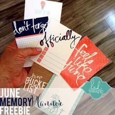 FREE JUNE #HeidiSwapp #HSMemoryPlanner printable
