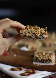 Como fazer Barras de Cereais, sem gluten, fáceis e deliciosas | How to make gluten free, easy and delicious Granola Bars #glutenfree #granolabars