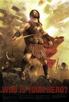 """Who Is Your Hero? Christian Bible Hero Poster - 24x 36 - """"Joshua at Jericho"""" - Would be a Great Movie Poster!"""