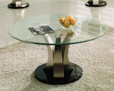 Amazon.com: Coffee Table with Glass Top in Chrome Finish: Furniture & Decor
