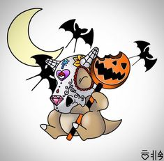 Pokemon Halloween, Kawaii Halloween, Halloween Art, Cute Pokemon Pictures, Cute Pictures, Cute Animal Drawings, Cute Drawings, Pokemon Tattoo, Cute Pokemon Wallpaper