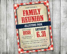 Printable Family Reunion Invitations  Backyard BBQ by VGInvites