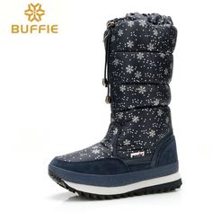 Decorated plush winter boots