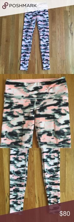 Lululemon Wunder Under Camo Wamo Pink Denim 2 Worn once! Excellent condition! lululemon athletica Pants Leggings