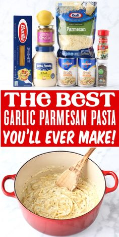 Pasta Recipes for Dinner Easy Garlic Parmesan Spaghetti! Pasta Recipes for Dinner Easy Garlic Parmesan Spaghetti!,Feed-Me Pasta Recipes for Dinner Easy Garlic Parmesan Spaghetti! This creamy dreamy one pot pasta is the perfect comfort. New Recipes, Cooking Recipes, Favorite Recipes, Pasta Recipes For Dinner, Quick Pasta Recipes, Recipies, Drink Recipes, Soup Recipes, Garlic Parmesan Pasta