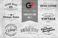 Check out Vintage Style Templates Logo Vol. 1 by G7 on Creative Market