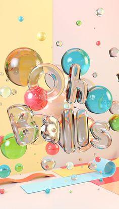 https://www.behance.net/gallery/30114151/CG-Typography-Oh-Balls: