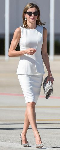 HM Queen Letizia of Spain departs  Madrid  for London -  Spanish State Visit to Britain, Jul 2017