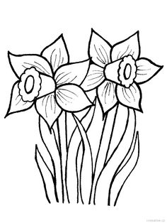 Trendy spring flower art coloring pages Ideas Spring Coloring Pages, Tree Coloring Page, Flower Coloring Pages, Coloring Pages To Print, Colouring Pages, Free Coloring, Coloring Book, Daffodil Flower, Flower Art