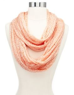 Burnout Leopard Infinity Scarf: Charlotte Russe