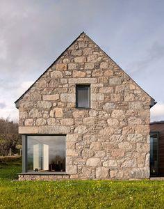 Derelict Stone Buildings Restored And Contemporized Into A Scottish Home