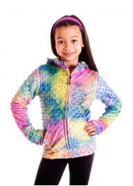 Rainbow Bubble Zip-Up Hoodie - Girls School Must Haves, Rainbow Bubbles, Supportive Sports Bras, Girls Designer Clothes, Children In Need, Cuddling, Zip Ups, Tie Dye, Winter Jackets