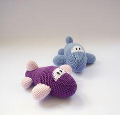 PDF Airplane Crochet Pattern - Airplane Crochet Toy, DIY tutorial by DuduToyFactory on Etsy https://www.etsy.com/listing/151822650/pdf-airplane-crochet-pattern-airplane