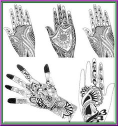 One of the most important accessories of South Asian customs, weddings, traditions and festivals is mehndi. These fragrant henna designs . Latest Mehndi Designs, Mehandi Designs, Mehndi Patterns, Body Mods, Mehendi, Indiana, Tattoos, Middle East, Pakistani