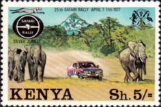 Postage Stamps Kenya 1977 Safari Rally SG 84 Fine Mint Scott 79 Other Kenya Stamps HERE